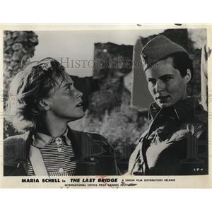 1957 Press Photo Maria Schell, Barbara Rutting in The Last Bridge