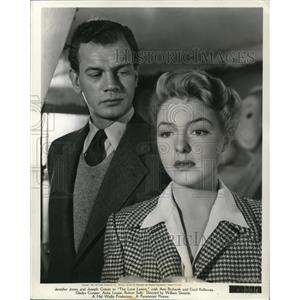 1949 Press Photo Ann Richards & Joesph Cotten in Love Letters