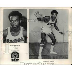 1971 Press Photo Herman Gilliam, Buffalo Braves traded to Portland Trailblazres