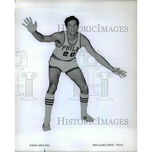 Press Photo Fred Hetzel of Philadelphia 76ers