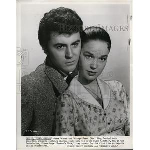 1958 Press Photo James Darren & Dathryn Grant in Gunman;s Walk