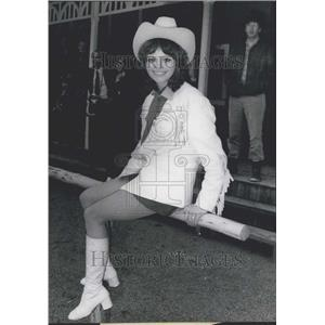 1971 Press Photo Angelika Kuhna In New Western Hot Gun Town