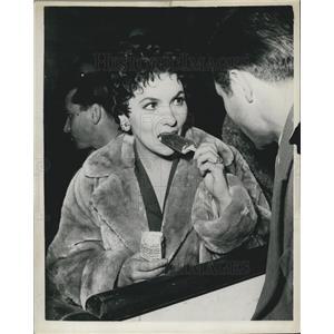 1955 Press Photo Italian Actress Gina Lollbrigida