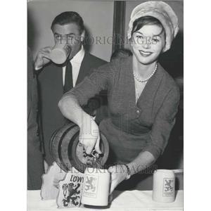 1959 Press Photo Actress Dawn Addams &Joachim Fuchsberger