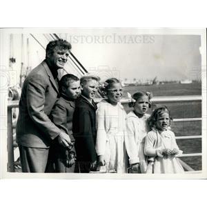 1958 Press Photo Actor Burt Lancaster and his five children - KSB28945