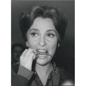 "1962 Press Photo Italian Actress Gina Lollobrigida in ""The Crazy Sea"""