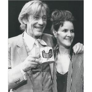 1980 Press Photo Actors Peter O'Toole Frances Tomelty At Old Vic Theatre