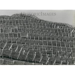 1990 Press Photo Fences Erected To Protect Against Avalanches In Alps