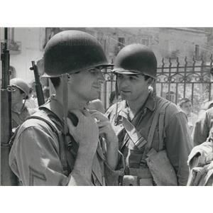1962 Press Photo Actors George Hamilton and George Peppard