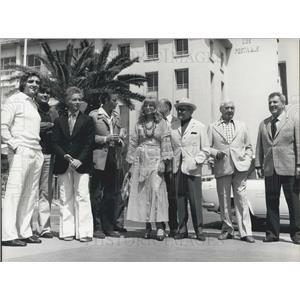 1974 Press Photo Italian Actress Monica Vitti, Rene Clair, Producer, Director