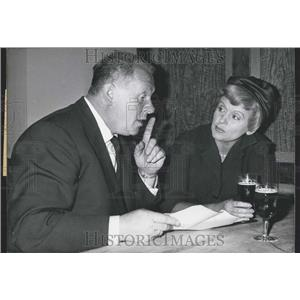 1960 Press Photo Luise Ullricht and Gert Frobe Star In