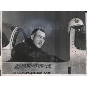 1953 Press Photo Lt. Col. Edwin H.Heller, America's Air Aces of World War II.