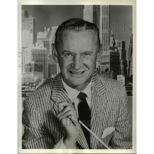 "1958 Press Photo Sammy Kaye in ""Music From Manhattan"" - orp16640"