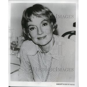 1977 Press Photo Evelyn Keyes American Film and Theater Actress - orp17257