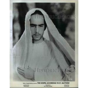"1966 Press Photo Enrique Irazoque in ""The Gospel According to St. Matthew"""