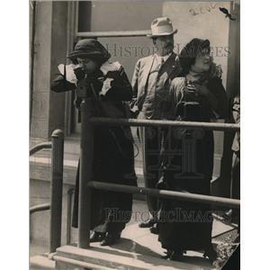 1913 Press Photo Maria Obregon & Felix Diaz & wife
