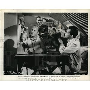 1960 Press Photo Curt Jergens Herbert Lom and James Daly in I Aim at the Stars