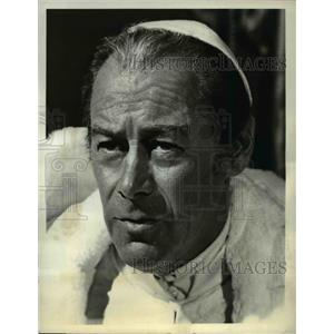 1969 Press Photo Rex Harrison stars as Pope Julius in Agony and the Ecstasy