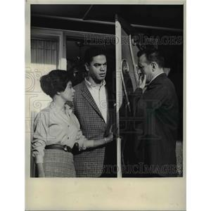 1963 Press Photo Ruby Dee Earle Hyman and George C. Scott in No Hiding Place