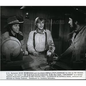 1975 Press Photo John Rubinstein and Don Johnson star in Zachariah - orp16958