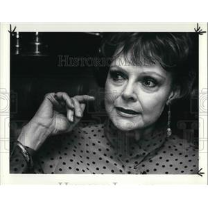 1984 Press Photo June Lockhart American actress in 1950s and 1960s television