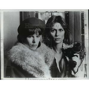 1977 Press Photo Geraldine Chaplin and Lauren Hutton star in Welcome to LA