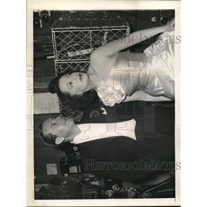 1943 Press Photo Ben Lyon and Bebe Daniels