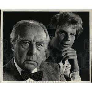 1978 Press Photo John Houseman and James Stephens star in Paper Chase - orp15454