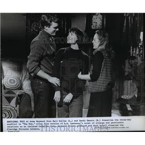 1968 Press Photo Anne Heywood Keir Dullea and Sandy Dennis in The Fox - orp15512