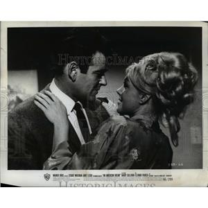 1966 Press Photo Stuart Whitman and Janet Leigh star in An American Dream