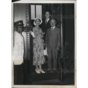 1932 Press Photo Japan Amb to US Katsuji Debuch & wife in Wash DC
