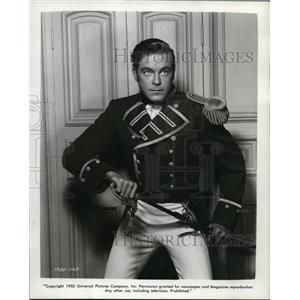 1952 Press Photo Scott Brady in Yankee Buccaneer - orp19435