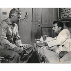 1956 Press Photo Jeff Chandler and George Nader star in Away All Boats