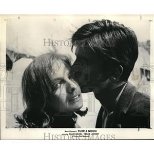 """1962 Press Photo Marie Laforet and Alain Delos """"Purple Noon"""" - orp19192"""