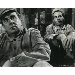 1964 Press Photo Melina Mercouri Robert Morley and Maximilian Schell in Topkapi