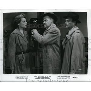 1950 Press Photo Ann Sheridan and Frank Jenks star in Woman on the Run