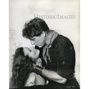 "1957 Press Photo Burt Lancaster Katharine Hepburn ""Rainmaker"""
