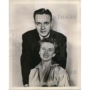 1955 Press Photo Bob Crosby and Cloris Leachman star in One Night Stand