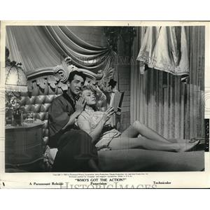 1963 Press Photo Lana Turner and Dean Martin in Who'se got the Action - orp20859