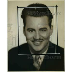 1935 Press Photo Archie Presby NBC Announcer in San Francisco - orp21840