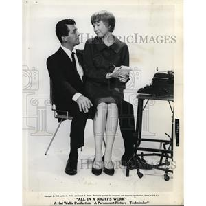 "1961 Press Photo Dean Martin and Shirley MacLaine ""All in a Night's Work"""