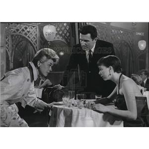 1957 Press Photo Doris Day John Raitt and Carol Haney in The Pajama Game