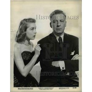 1951 Press Photo Ezio Pinza and Janet Leigh star in Strictly Dishonorable