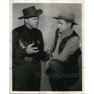 "1959 Press Photo Loren Grey Dick Powell ""Emote, Man!"""
