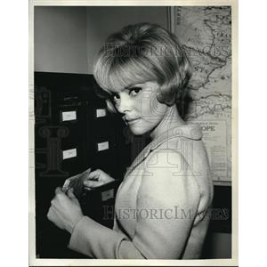 1966 Press Photo Christine Carere stars in Blue Light TV show
