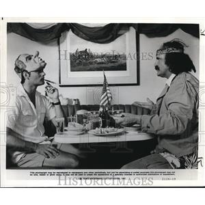 1980 Press Photo Bill Murray and Peter Boyle star in Where the Buffalo Roam