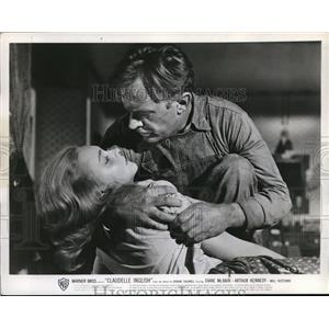 1961 Press Photo Diane McBain & Arthur Kennefy in Claudelle Inglish