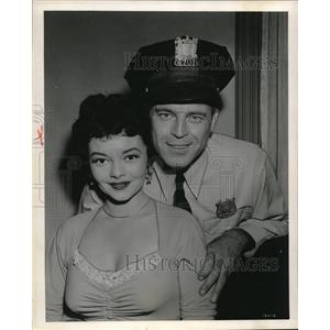 1954 Press Photo Scott Brady and Gloria Saunders in Rim of Violence