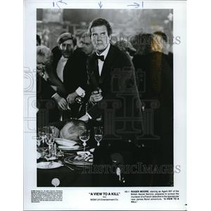 1964 Press Photo A New View to Kill Roger Moore
