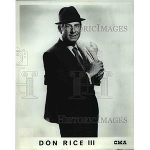 1970 Press Photo Don Rice III